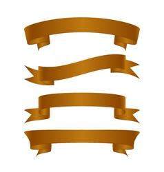 Set of beautiful festive gold ribbons vector