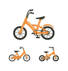 set of bike vector image