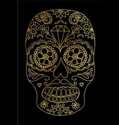 sugar skull color t-shirt vector image vector image