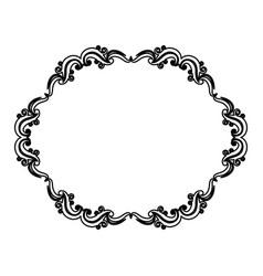 vintage border frame decoration romantic vector image