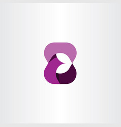 E letter purple icon logotype symbol vector