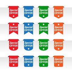 Special offer paper tag labels vector image vector image