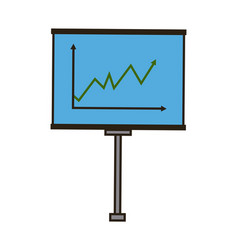 business board growing chart presentation icon vector image vector image