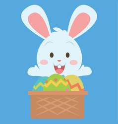 easter theme with bunny and egg vector image vector image