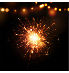 Holiday Background with Sparkler vector image vector image