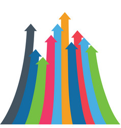 infographic arrow arrows of growth vector image