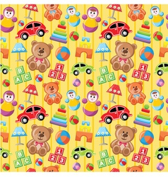 Seamless toys pattern vector image vector image