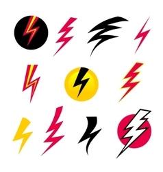 set Icons Lightning vector image