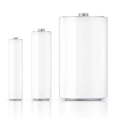 White battery template vector image vector image