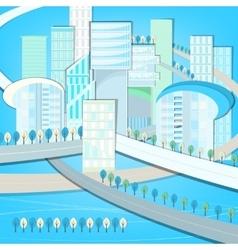 01 Eco City landscape vector