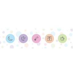 5 night icons vector