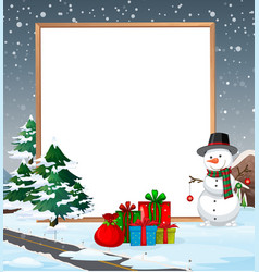 a cold christmas border vector image