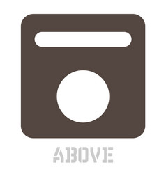 Above concept icon on white vector