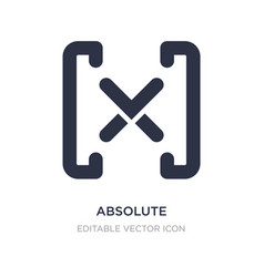 Absolute icon on white background simple element vector