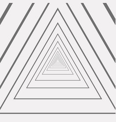 abstract of triangle amaze gray and white pattern vector image