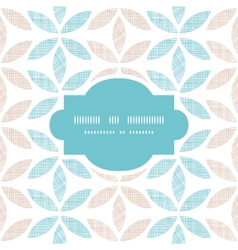 Abstract textile leaves stripes frame seamless vector image