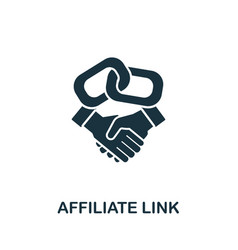 Affiliate link icon from affiliate marketing vector