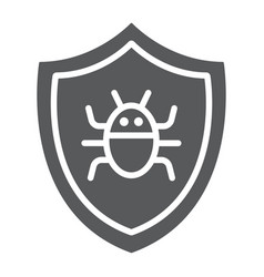 antivirus glyph icon technology and protection vector image