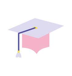 Back to school education graduation hat accessory vector