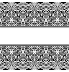 background with stripes white lace vector image