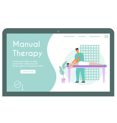 Banner manual therapy concept vector