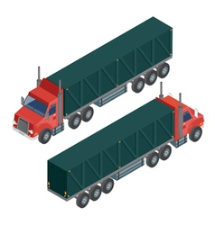Cargo Transportation Isometric Truck Delivery vector image