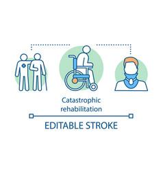 catastrophic rehabilitation concept icon vector image