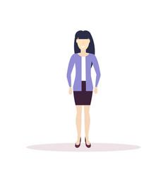 caucasian businesswoman elegant asian girl vector image