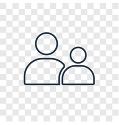 Child consent concept linear icon isolated on vector