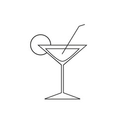 cocktail online icons vector image