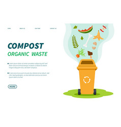 compost waste composting bin organic green trash vector image