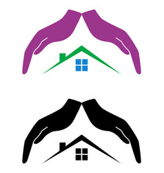 concept of protection and love of house vector image