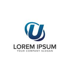creative modern letter u logo design concept vector image