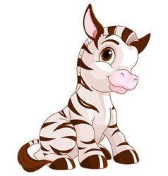Cute Zebra vector image