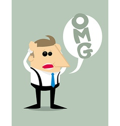 Desperate Cartoon businessman vector