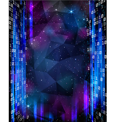 digital space background with stars and numbers vector image