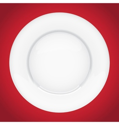 Dinner plate vector image vector image