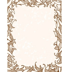 doodles frame with leaves vector image