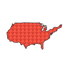 dotted line map of the united states vector image