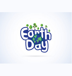 earth day mnemonic vector image