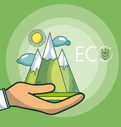 eco environment concept vector image