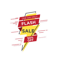 flash sale banner template design vector image