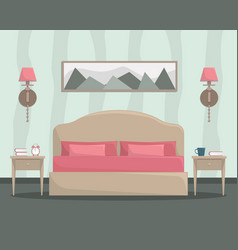 flat of bedroom interior vector image