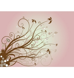 floral brown vector image