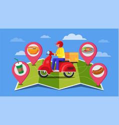 Food delivery banner design flat design online vector
