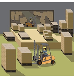 Forklift operator vector