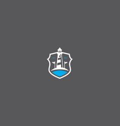 Golf course logo icon vector