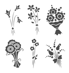 Graphical bouquets vector