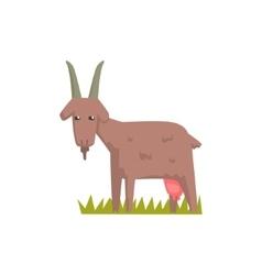 Grey Goat Toy Farm Animal Cute Sticker vector