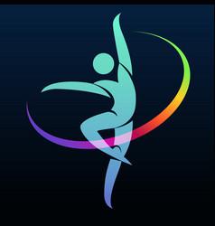Gymnastic symbol vector